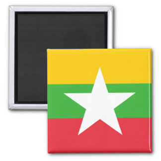 Myanmar National World Flag Magnet