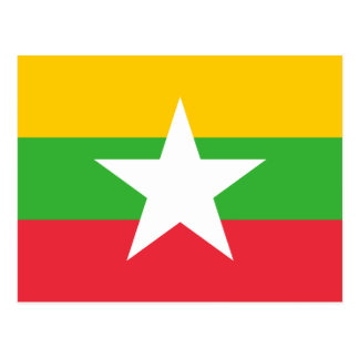 Myanmar National World Flag Postcard