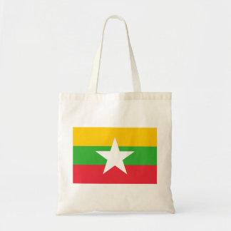 Myanmar National World Flag Tote Bag