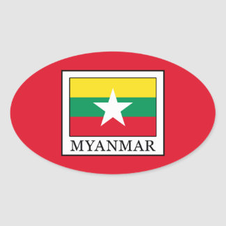 Myanmar Oval Sticker