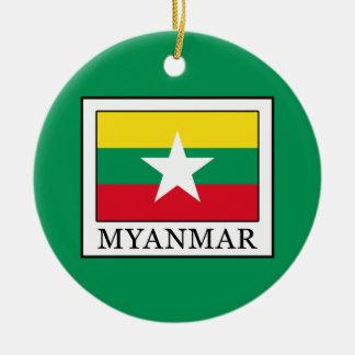 Myanmar Round Ceramic Ornament