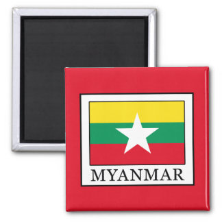 Myanmar Square Magnet