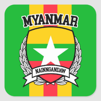 Myanmar Square Sticker