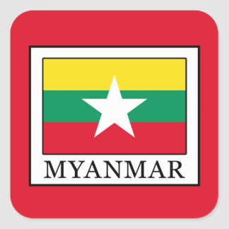 Myanmar Square Sticker