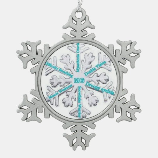 Myasthenia Gravis Awareness Teal PewterOrnament Pewter Snowflake Ornament