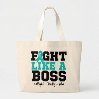 Myasthenia Gravis Fight Like a Boss Jumbo Tote Bag