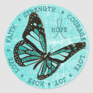 Myasthenia Gravis Hope  Strength Butterfly Sticker