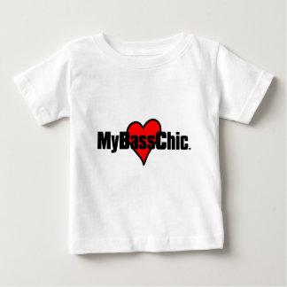 MyBassChic(tm) Crimson Heart Baby T-Shirt