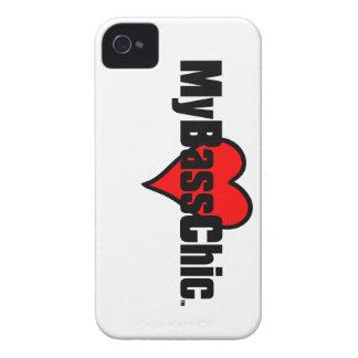 MyBassChic(tm) Crimson Heart iPhone 4 Case-Mate Cases