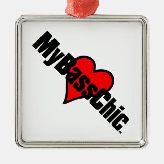 MyBassChic(tm) Crimson Heart Metal Ornament