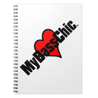 MyBassChic(tm) Crimson Heart Notebooks