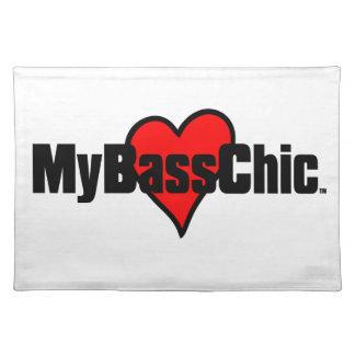 MyBassChic(tm) Crimson Heart Placemat