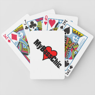 MyBassChic(tm) Crimson Heart Poker Deck