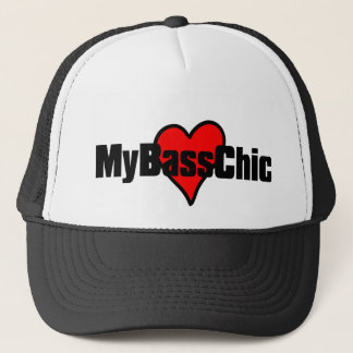 MyBassChic(tm) Crimson Heart Trucker Hat