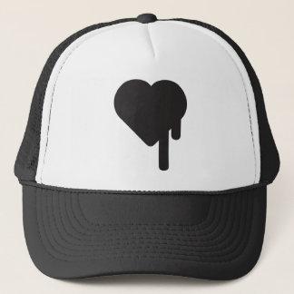myblackheart heart trucker hat
