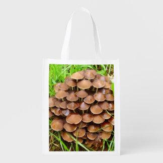 Mycena inclinata Mushroom Reusable Bag