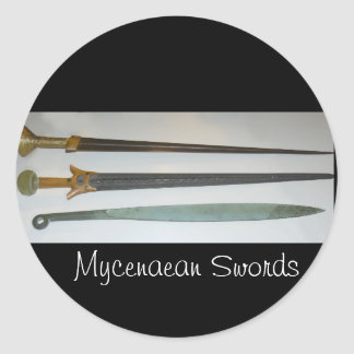 Mycenaean_swords Round Sticker
