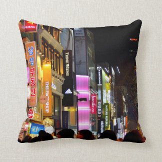 Myeongdong Throw Pillow