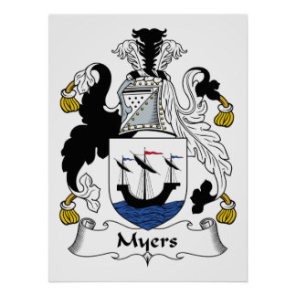 Myers Family Crest Poster