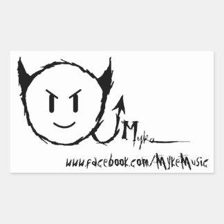 Myke Rectangle Sticker