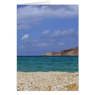 Mykonos beach card