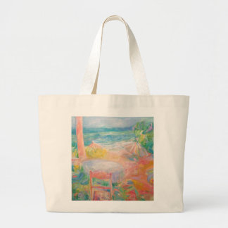 Mykonos By the Beach Large Tote Bag