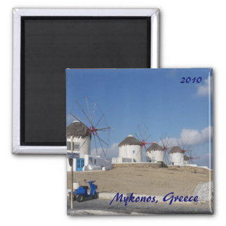 Mykonos, Greece, 2010 Square Magnet
