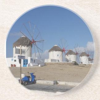 Mykonos Greece Coaster