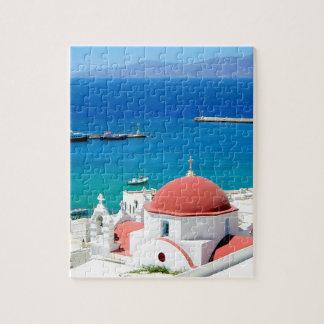 Mykonos Greek Island Hilltop Puzzle