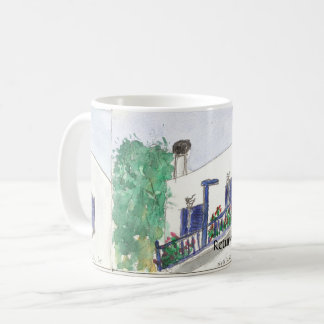 Mykonos Laki Square view on a mug