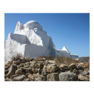 Mykonos Photos: Whitewashed Church Photo Print