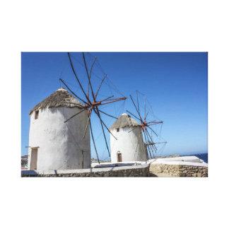 Mykonos Photos: Windmills Canvas Print