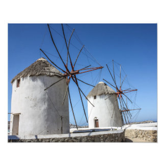 Mykonos Photos: Windmills Photo Print