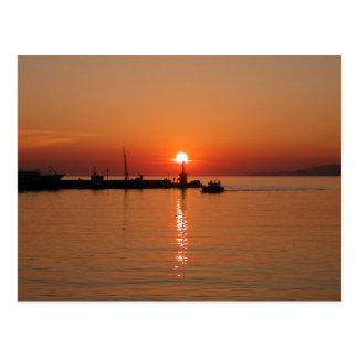 Mykonos Sunset Postcard