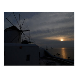 Mykonos windmills postcard