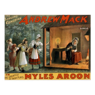 Myles Aroon, 'Andrew Mack' Retro Theater Postcard