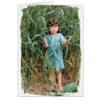 Mylune finding her path through the high grass card
