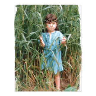 Mylune finding her path through the high grass letterhead