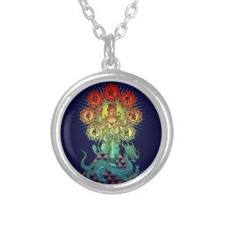 Myoken bosatsu2 silver plated necklace