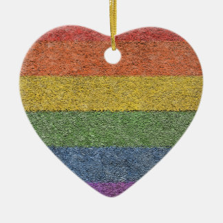 "MyPride365 - ""Rainbow Brick"" Heart Ornament"