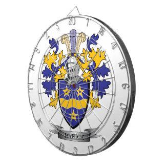 Myrick Family Crest Coat of Arms Dartboard