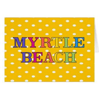 Myrtle Beach Colors Card