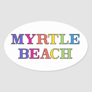 Myrtle Beach Colors Oval Sticker