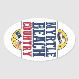 Myrtle Beach Country Oval Sticker