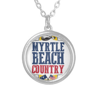 Myrtle Beach Country Silver Plated Necklace
