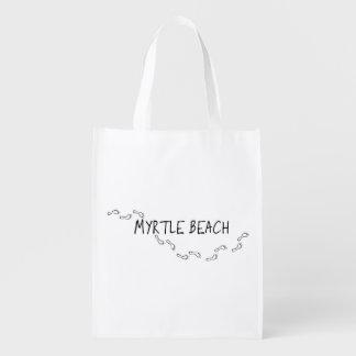 Myrtle Beach Footprints Reusable Grocery Bag