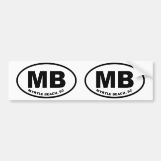 Myrtle Beach MB Bumper Sticker