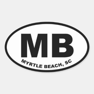Myrtle Beach MB Oval Sticker