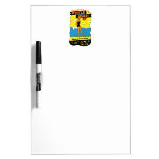 Myrtle Beach Postcard Dry Erase Board