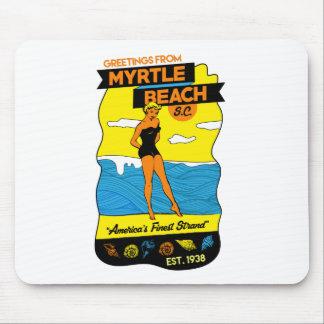 Myrtle Beach Postcard Mouse Pad